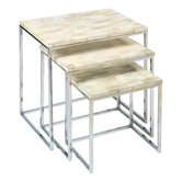 Faux Horn 3 Piece Nesting Tables