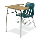 9000 Series 30&quot; Plastic Combo Chair Desk with Bookrack
