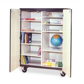 66&quot; H Mobile Storage Cabinet with 8 Adjustable Shelves
