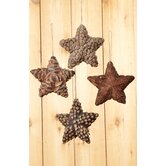 Appalachian Lodge Natural Star Ornament Set