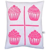 Cupcake Grid Block Print Squillow Accent Pillow