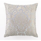 Damask Down Filled Embroidered Linen Pillow