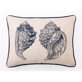 Double Conch Down-Filled Embroidered Pillow