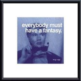 Everybody Must Have A Fantasy by Andy Warhol Metal Framed Art Print