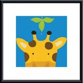 Peek-A-Boo Giraffe by Yuko Lau Metal Framed Art Print