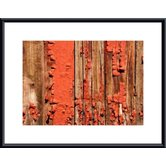Chipped Paint Abstract Metal Framed Art Print