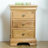 Elk River Oak 3 Drawer Bedside Table