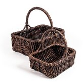 Patina Rectangular Water Hyacinth Basket (Set of 2)