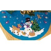 Frosty's Ornament Collection Tree Skirt Christmas Cross Stitch