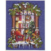 Christmas Window Counted Cross Stitch