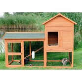 Rabbit Hutch with Outdoor Run