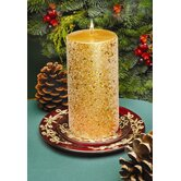 Glitter Pillar Candles (Set of 2)