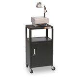 Adjustable Utility Cart with Cabinet
