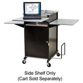 "Presentation Cart, w/ Optional Shelf, 18""x18""x3/4"", Gray"