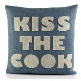 """Kiss The Cook"" Decorative Pillow"