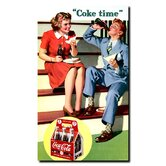 Coca Cola Coke Time Stretched Canvas Art