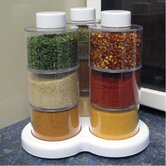 10 Piece Swivel Herb and Spice Rack Storage Set (Set of 3)