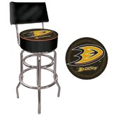 NHL Padded Bar Stool with Back
