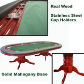 "96"" Deluxe Mahogany Texas Hold'em Table"