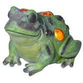 Jeweled Garden Frog Statue
