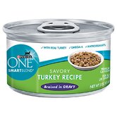 Smartblend Braised Cuts / Gravy Turkey Wet Cat Food (3-oz, case of 24)