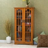 Oak Windowpane Media Cabinet