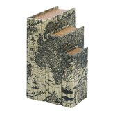 Ancient World Map Book Box (Set of 3)