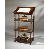 Plantation Cherry Library Stand with Three Shelves