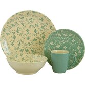 Fresh Flowers 16 Piece Dinnerware Set