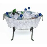 Embossed Oval Steel Beverage Tub