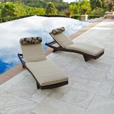 Delano Wave Chaise Lounger with Cushion (Set of 2)