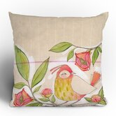 Cori Dantini Little Bird On A Flowery Branch Throw Pillow