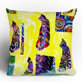 Randi Antonsen Cats 1 Throw Pillow