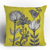 Valentina Ramos Green Garden Throw Pillow