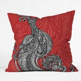 Valentina Ramos Polyester The Bird Indoor/Outdoor Throw Pillow