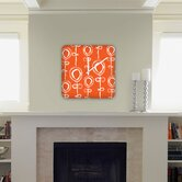 Rachael Taylor Contemporary Orange Custom Clock