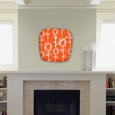 Rachael Taylor Contemporary Orange Modern Clock