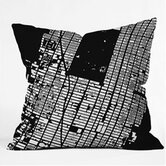 CityFabric Inc NYC Midtown Throw Pillow