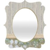 Cori Dantini Blue and White Stripes Quatrefoil Mirror