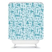 Jennifer Denty Sea Creatures Shower Curtain