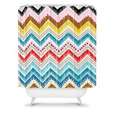 Khristian A Howell Nolita Chevrons Shower Curtain