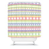 Romi Vega Pastel Pattern Shower Curtain