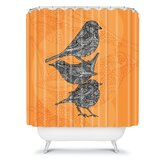Valentina Ramos 3 Little Birds Shower Curtain