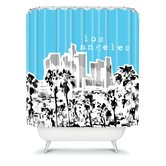 Bird Ave Los Angeles Shower Curtain