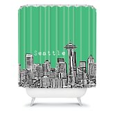 Bird Ave Seattle Shower Curtain