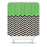 Bianca Green Shower Curtain