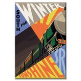 South for Winter Sunshine - Southern Railroad Canvas Wall Art