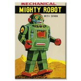 Mechanical Mighty Robot Vintage Advertisement on Canvas