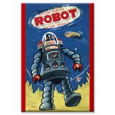 Remote Control Revolving Flashing Robot Canvas Wall Art