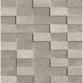 "Ecoliving 12"" x 12"" Reflex Porcelain Mosaic in Grey"
